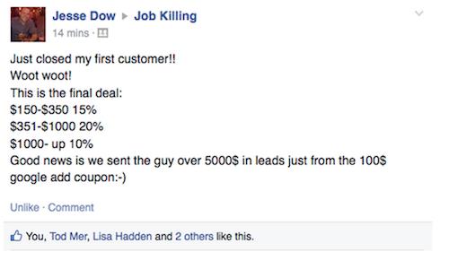 Jesse Dow testimonial