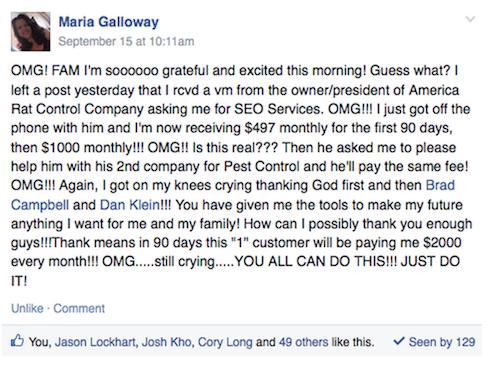 Maria Galloway Testimonial 2